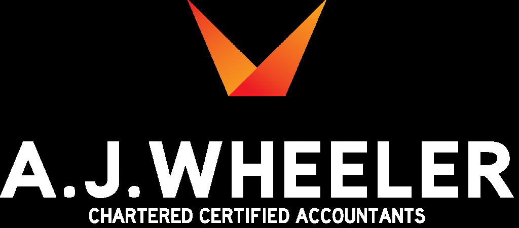 AJWHEELER logo White